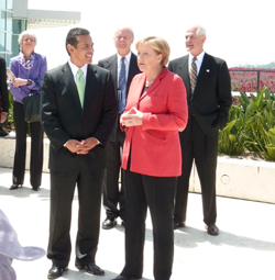 Angela Merkel and Mayor Villaraigosa