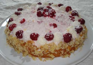 Valentine's Day Raffaello Cake