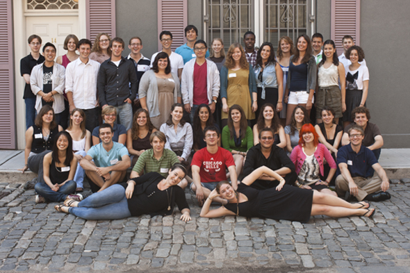 The DAAD Young Ambassadros 2011 - 2012. Photo: E. Dehn-Knight