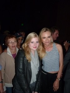 Actress Diane Krueger meeting German World reader Malena Fuchs at screening in L.A. Photo: GW