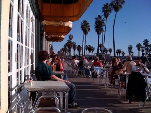 Waterfront Café in Venice, CA, offers Swiss and German specialties.
